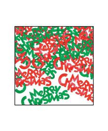 Planet Jashn Merry Christmas Confetti - Red and Green