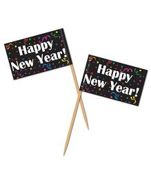 Planet Jashn Happy New Year Tooth Picks - Pack of 50