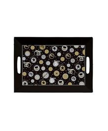 Planet Jashn New Year Plastic Tray - Black