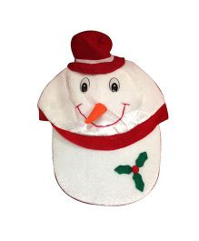 Planet Jashn Snowman Cap - White and Red
