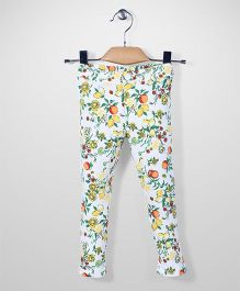Mothercare Full Length Pants Floral Print - White