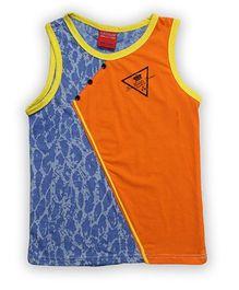 Liliput Kids Sleeveless Printed Training T Shirt - Orange