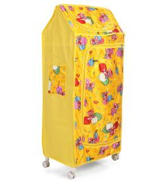 Lovely Almirah Jumbo With Family Bear Print - Yellow