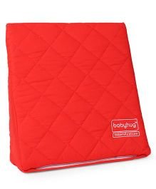 Babyhug Wedge Pillow With Quilted Cover - Red