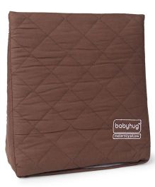 Babyhug Maternity Wedge Pillow With Quilted Cover - Brown