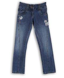 Lilliput Kids Full Length Jeans Embroidery - Blue