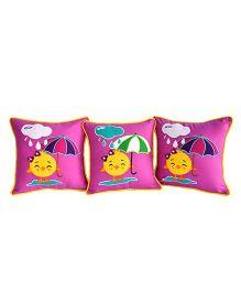 Bananaah Splish Splash Theme Cushion Covers - Pink
