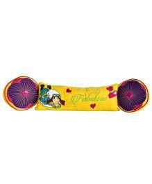 Bananaah Teen Tween Girl Theme Cushion - Purple & Yellow