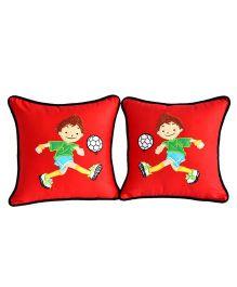 Bananaah Champion Sports Theme Cushion Covers - Red