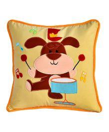 Bananaah Drummer Print Cushion Cover - Beige