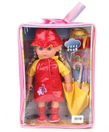 Hamleys Calinou Umbrella Doll Set - Red And Yellow