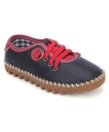 Cute Walk Party Wear Shoes - Black Red