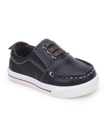 Cute Walk Slip On Shoes - Black