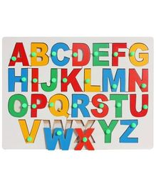 Little Genius - Wooden English Alphabet Uppercase With Knob