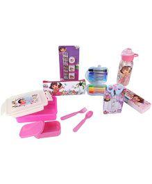 Dora The Explorer School Kit Pink - Set of 7