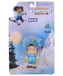 Raju Himalayan Adventure Action Figure Toy Blue - Height 7 cm