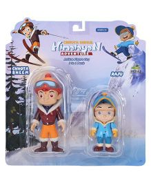 Chhota Bheem Himalayan Adventure Figure Toy Pack Of 2 - 9 cm and 6 cm