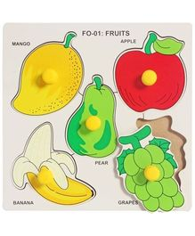Little Genius - Wooden  Fruits With Big Knob