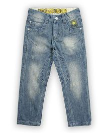 Lilliput Kids Straight Jeans Embroidery - Light Blue
