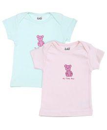 Lula Short Sleeves Teddy Print T-Shirt - Pack Of 2
