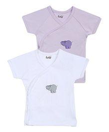 Lula Short Sleeves Kimono Style T-Shirt - Pack Of 2