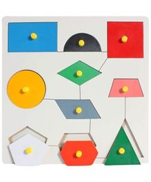Little Genius - Wooden Insert Shape Board With Knob
