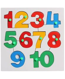 Little Genius - Wooden Number Insert Puzzle 1-10