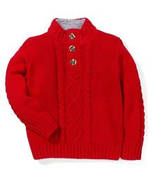 Mothercare Full Sleeves Funnel Neck Sweater - Red