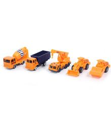 John World Construction Vehicle Set Yellow - Pack Of 5