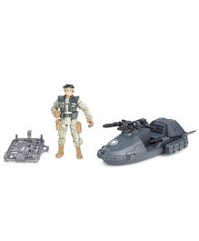 Soldier Force Patrol Vehicle Set Black - 2 Pieces