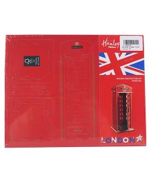 Hamleys Wooden 3D Puzzle Phone Kit - Red