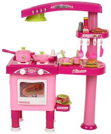 Comdaq Big Kitchen Playset - Pink