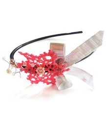 Soulfulsaai Crochet Snowflake Hairband - Pink