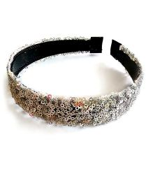 Soulfulsaai Sequence Glitter Hairband - Silver