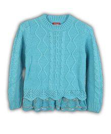 Lilliput Kids Full Sleeves Plain Sweater - Light Blue
