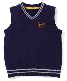 Mothercare Sleeveless Sweater - Navy Blue