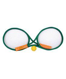 Surya Tennis Racket Set With Ball - Green Yellow