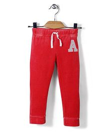 Mothercare Full Length Jogger Alphabet A Patch - Red