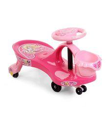 Barbie Swing Car With Basket - Pink
