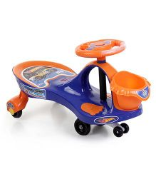 Hotwheels Swing Car With Basket - Orange And Blue