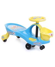 Doraemon Swing Car With Basket - Blue And Yellow