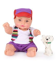 Speedage Manav Baby Doll With Puppy - 20 cm