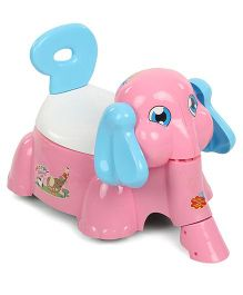 Shadilal Happy Elephant 2 In 1 Musical Potty Chair And Sliding Car - Pink