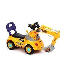 Shadilal Sunway Multifunctional Sliding Car Yellow 5610