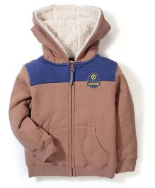 Mothercare Hooded Zip Through Jacket - Brown