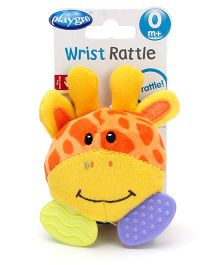 Playgro Wrist Rattle Toy - Yellow And Brown