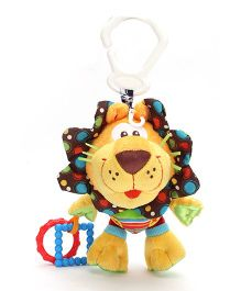 Playgro Activity Friend Lion Clip On Soft Toy Rattle