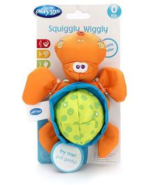Squiggly Wiggly Turtle Bath Toy - Orange