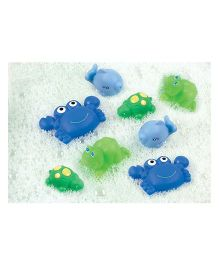 Playgro Bath Time Squirtees Pack Of 8 - Blue & Green