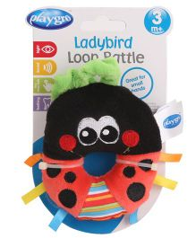 Playgro Ladybird Loop Rattle - Red And Black